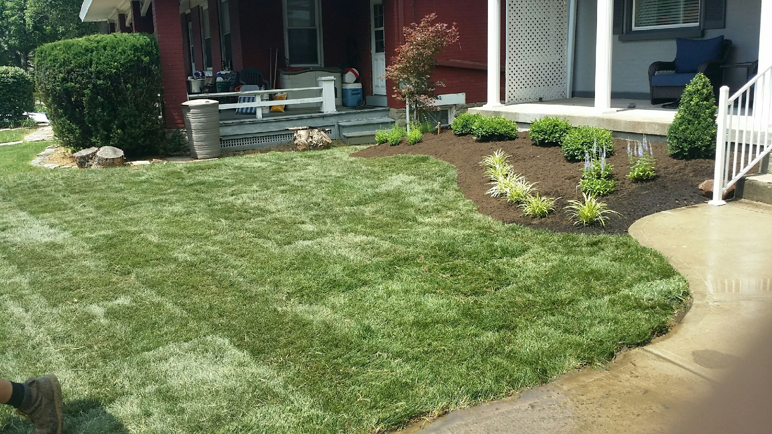 Project Complete New Lawn Landscaping Contributes To City Of Beautiful Homes Brentwood Landscape Design Inc