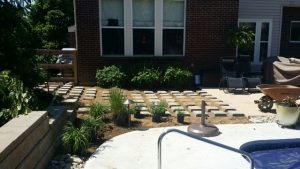 Cold Spring Pool-side Paver, Turf Patio Install