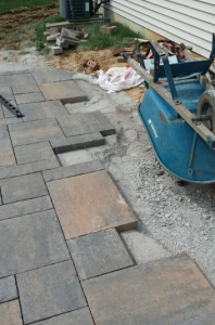 Alexandria Client Installs Beautiful Reading Rock Paver Patio
