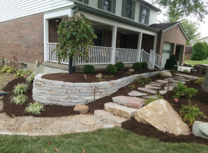 Hardscapes, landscaping transforms Edgewood Front Yard